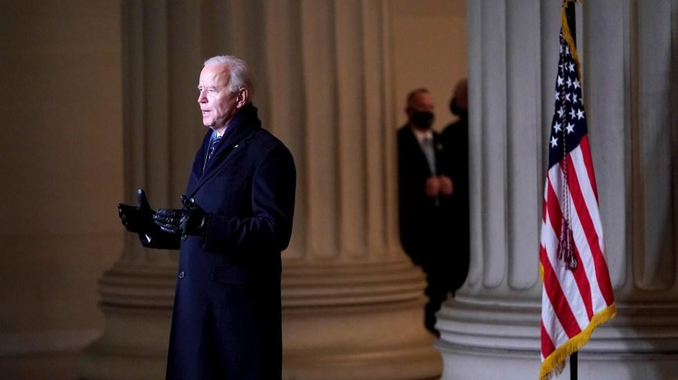 Biden da giro de timón: vuelve a Acuerdo de París y pide el uso de cubrebocas - Joe Biden. Foto de EFE/ EPA/ JOSHUA ROBERTS / POOL.