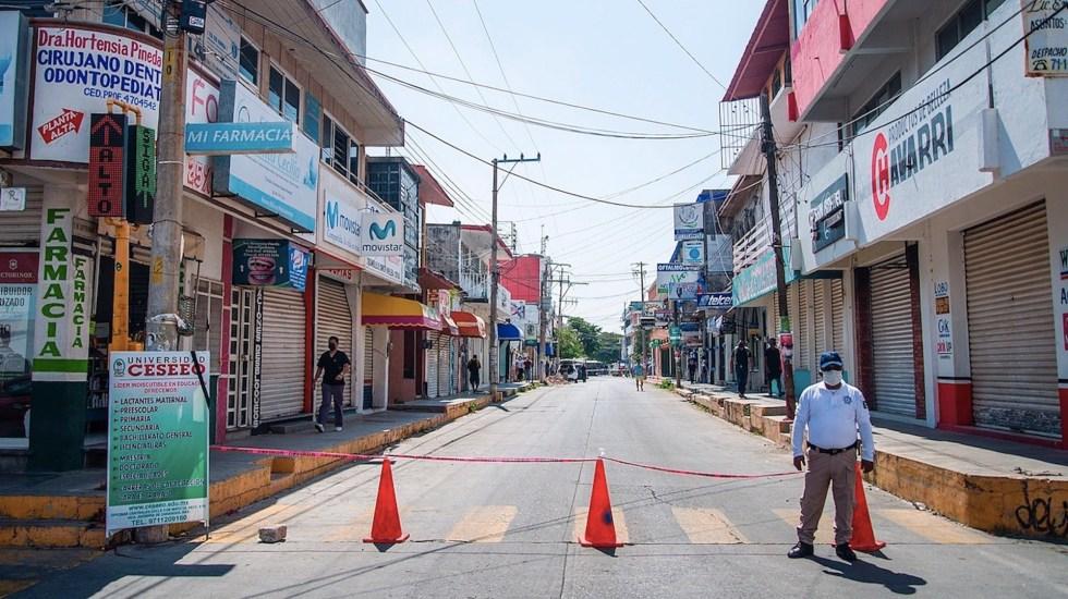 México continúa siendo el peor país para estar durante la pandemia, según Bloomberg - Contagios de COVID-19 en Juchitán, Oaxaca, México. Foto de EFE