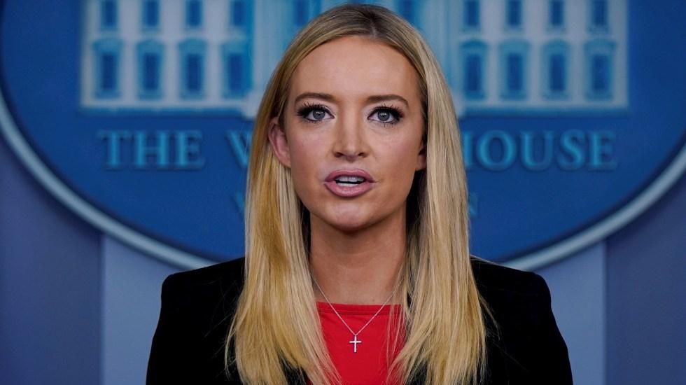 """#Video Casa Blanca se desmarca de asalto al Capitolio; exige que responsables sean procesados """"con todo el peso de la ley"""" - Kayleigh McEnany Casa Blanca Estados Unidos"""