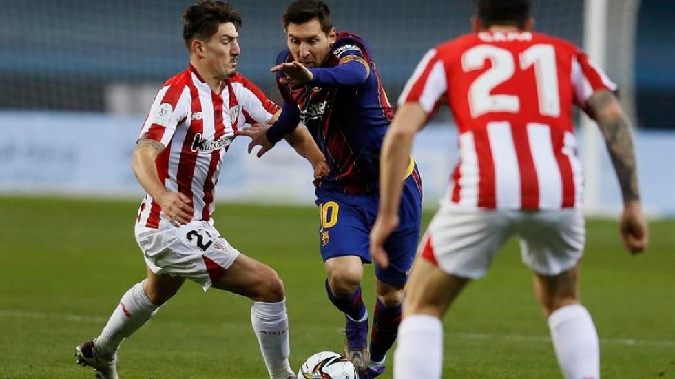 Leo Messi recibe tarjeta roja por primera vez como jugador del Barcelona - Leo Messi recibe una tarjeta roja por primera vez como jugador del Barcelona. Foto EFE