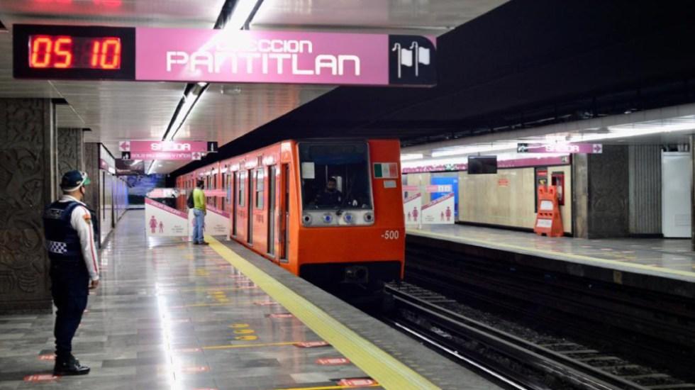 Operará Metro de la CDMX con horario de día festivo este lunes 1 de febrero - Estación Pantitlán de la Línea 1 del Metro. Foto de @Claudiashein