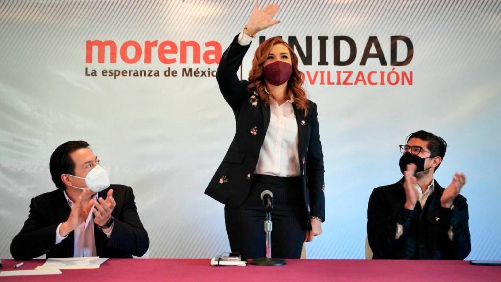 Morena registra a Marina del Pilar Ávila como candidata a gobernadora de Baja California - Morena registra como candidata a gobernadora de Baja California a Marina del Pilar Ávila Olmeda. Foto Twitter @mario_delgado