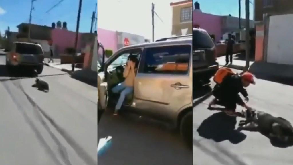 #Video Mujer arrastra en Puebla a su perro con su camioneta - Mujer arrastra a perro con su camioneta. Captura de pantalla