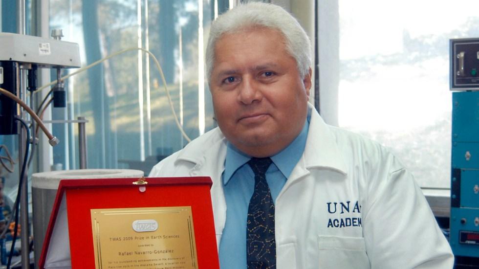 Murió Rafael Navarro González, astrobiólogo que participó en misión de la NASA para buscar vida en Marte - Murió Rafael Navarro González, astrobiólogo que participó en misión de la NASA para buscar vida en Marte. Foto Notimex
