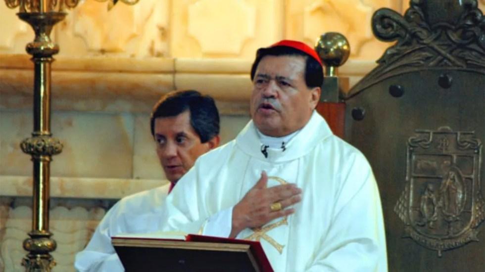 Arquidiócesis aclara que cardenal Norberto Rivera deberá pagar sus gastos en hospital privado - Norberto Rivera Carrera. Foto de Notimex.
