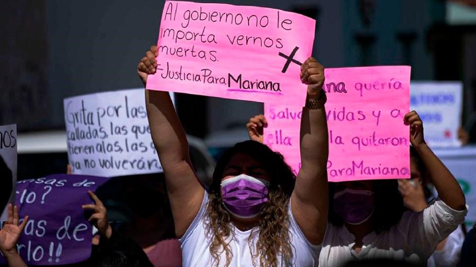 Protestan en Chiapas por feminicidio de la estudiante Mariana Sánchez - Protestan en Chiapas por el feminicidio de Mariana Sánchez, pasante de Medicina. Foto EFE