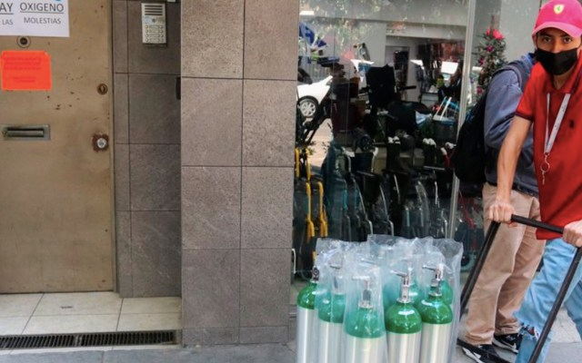 Alertan por fraudes en la compra y venta de tanques de oxígeno en la Ciudad de México - Foto de EFE