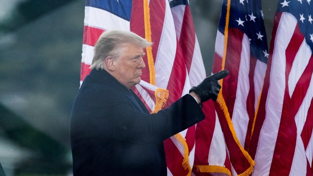 Nueva York rescinde contratos con Organización Trump por 'actividad criminal' del presidente - Trump durante mitin en la Casa Blanca previo a toma del Capitolio. Foto de EFE