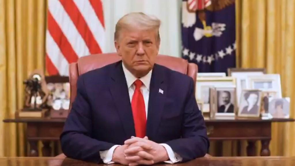 Supremo de EE.UU. rechaza nuevo intento de Trump de no entregar sus impuestos - Trump enfrentará nuevo juicio político en la recta final de su mandato. Foto EFE
