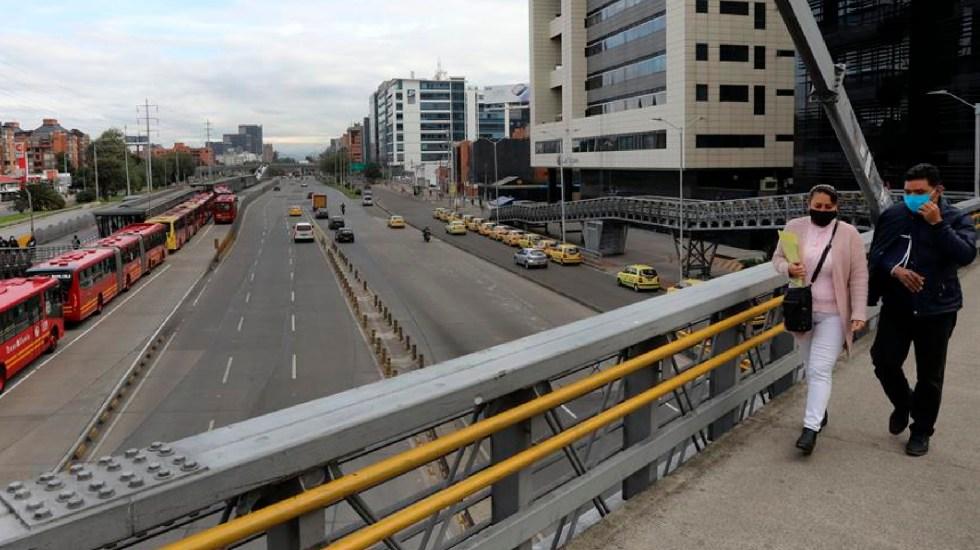 Bogota, la ciudad más congestionada por el tráfico en un 2020 atípico - Este viernes, inició el confinamiento obligatorio en Bogotá, Colombia, por la pandemia de COVID-19. Foto EFE