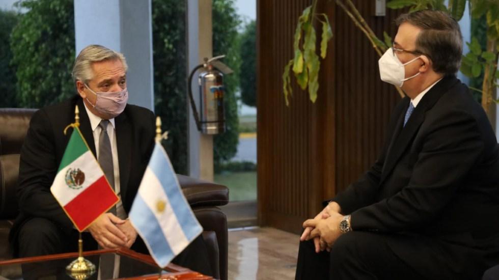 Presidente de Argentina llega a México para reforzar diplomacia y economía - Foto de @AMEXCID
