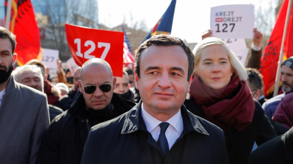 Ultranacionalistas ganan elecciones en Kosovo, según sondeo a pie de urna - Ex primer ministro de Kosovo, Albin Kurti. Foto de EFE