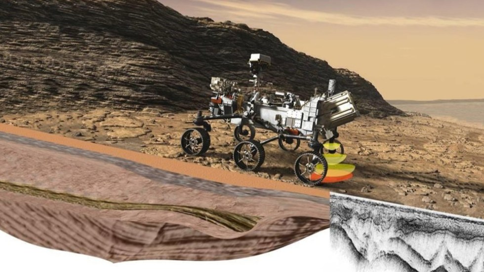 Con Perseverance serán cinco los vehículos de la NASA que han recorrido Marte - Animación del Perseverance explorando superficie de Marte. Foto de @PerseveranceESP