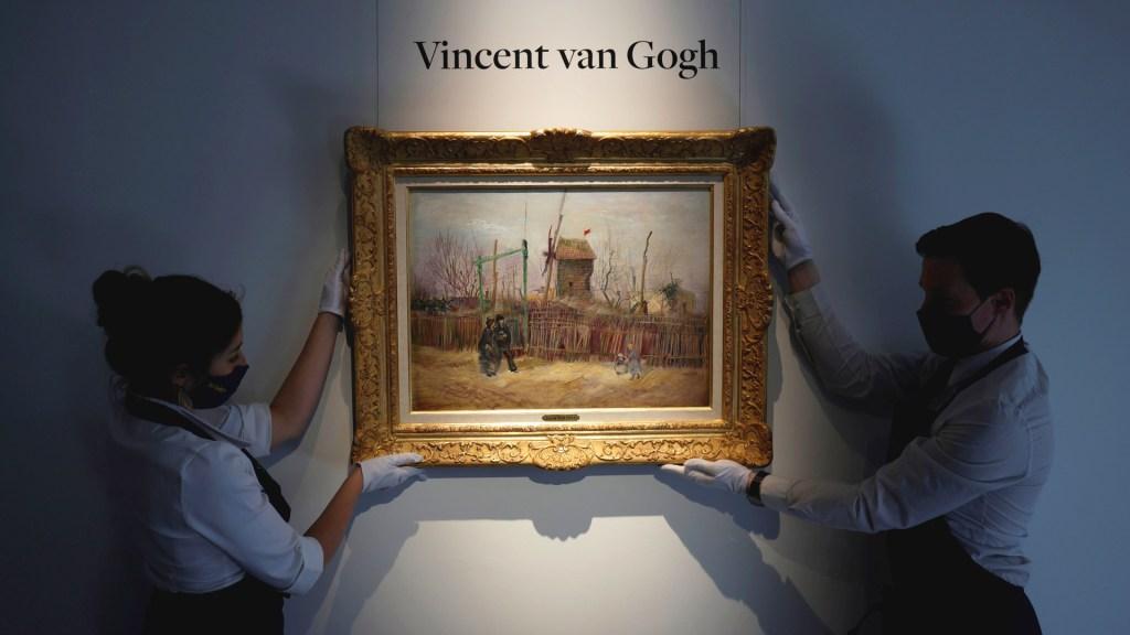 Subastarán cuadro de Vincent Van Gogh que lleva un siglo sin verse en público - Cuadro de Van Gogh que se subastará en París. Foto de EFE