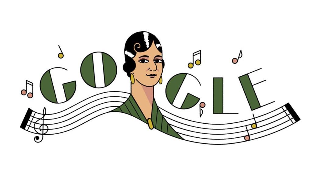 Google rinde homenaje a la compositora María Grever con doodle - Doodle de María Grever. Foto de Google