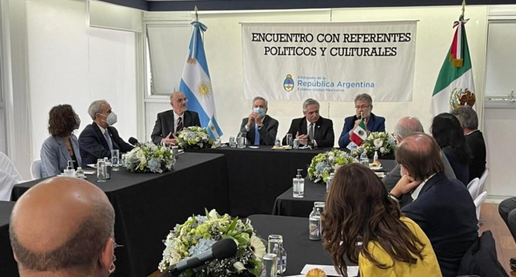 Encuentro Alberto Fernández políticos e intelectuales