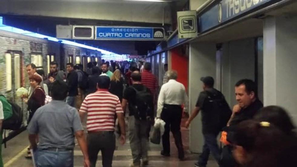 Línea 2 del Metro reanudará operaciones la próxima semana: Sheinbaum - Estación Tasqueña Línea 2 del Metro. Foto de @MetroCDMX