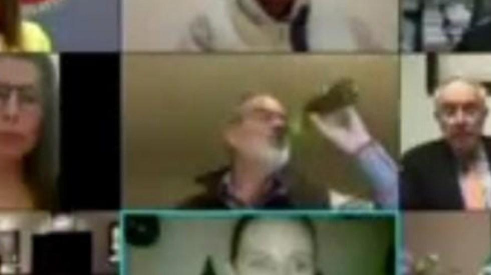 #Video Gustavo Madero bebe cerveza durante sesión del Senado para ratificar a Esteban Moctezuma - Gustavo Madero Cerveza