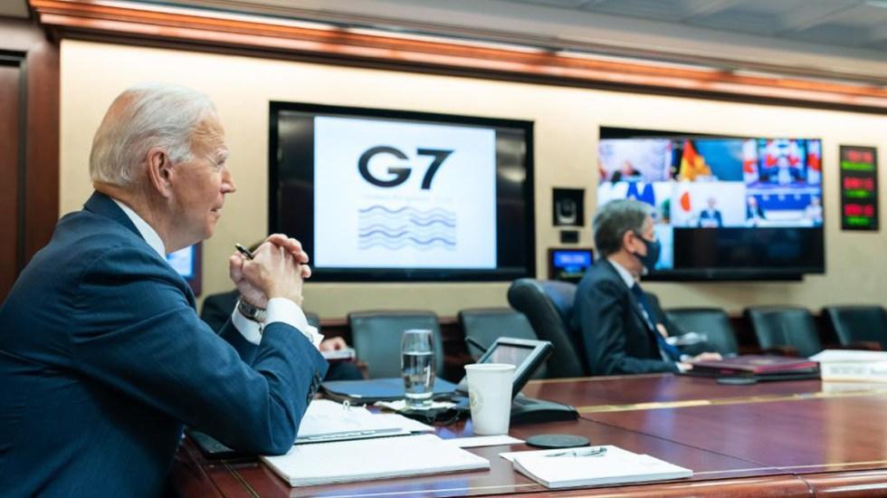 Aplaude G7 el regreso de Estados Unidos al multilateralismo - Joe Biden durante reunión virtual del G7. Foto de @POTUS