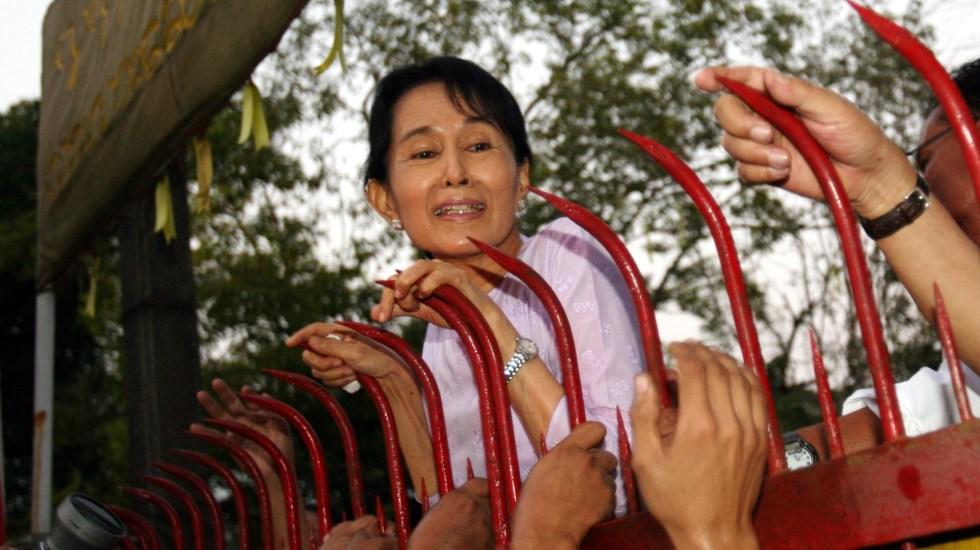 Consejo de Seguridad de la ONU reclama a Ejército de Birmania liberación de Aung San Suu Kyi - Lideresa Aung San Suu Kyi de Birmania. Foto de EFE