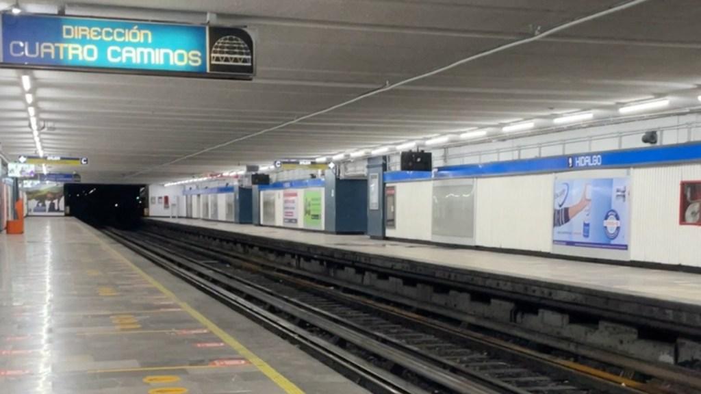 Línea 2 del Metro reanudará servicio con 10 trenes - Línea 2 del Metro CDMX. Foto de @MetroCDMX