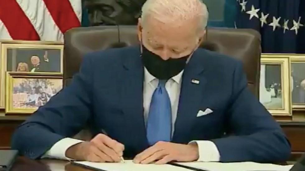 Biden avanza en su promesa de revertir medidas antimigrantes de Trump - Captura de pantalla