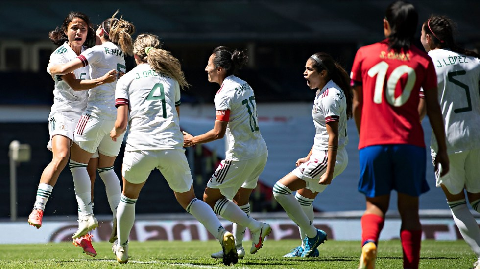 Tricolor Femenil derrota a Costa Rica en su regreso al Estadio Azteca - Foto de @miseleccionmx