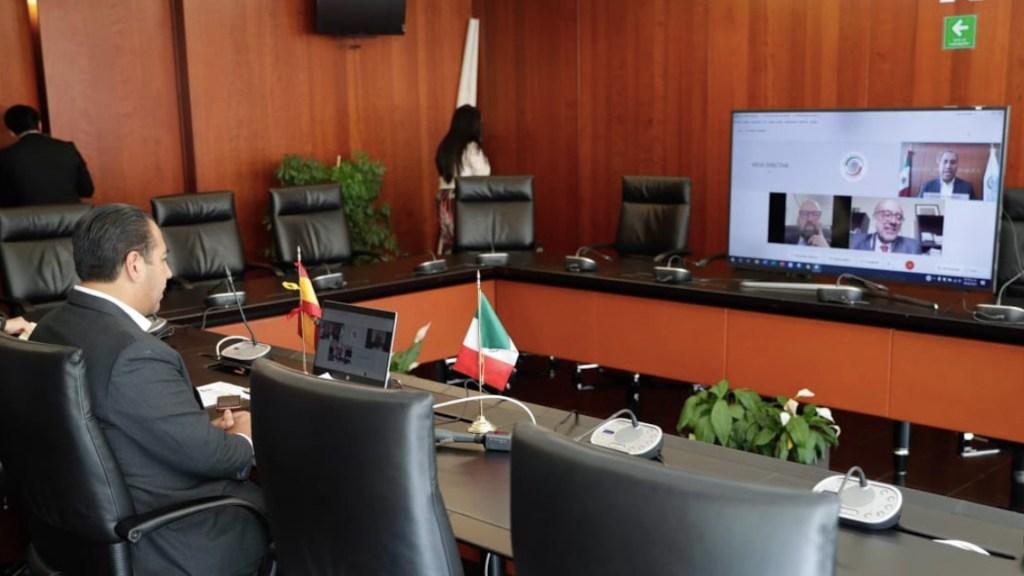 Senado y embajada de España en México acuerdan reforzar la relación bilateral - Foto de Twitter Eduardo Ramírez