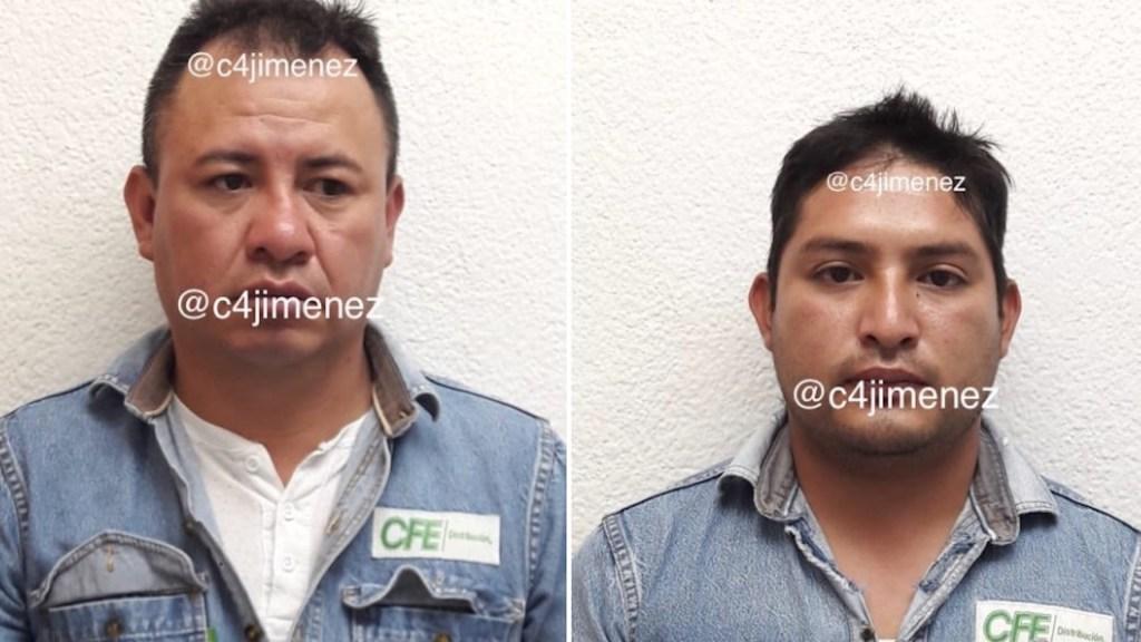 Detienen a presuntos empleados de CFE que exigieron 5 mil pesos a usuario para no cortarle la luz - Foto de Carlos Jiménez