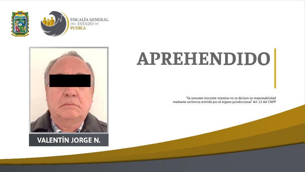 Detienen a Valentín Meneses, exfuncionario del gobierno de Mario Marín - Foto de Fiscalía de Puebla