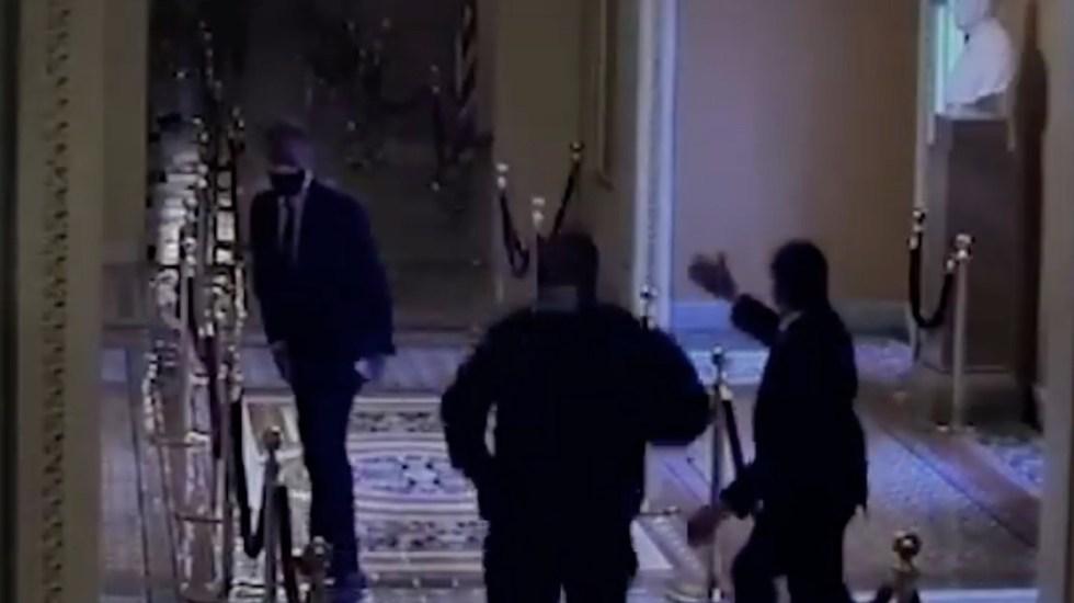 #Video Se revelan videos inéditos de la toma del Capitolio en juicio político contra Trump - Captura de pantalla