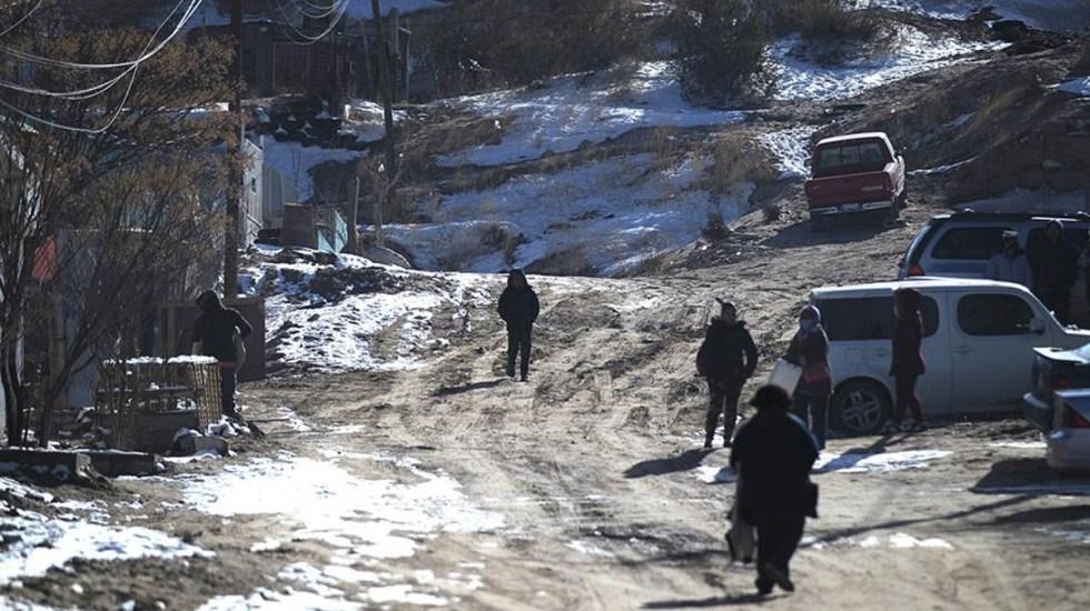 Tormenta invernal deja cinco muertos y apagones al norte de México - Tormenta invernal al norte de México. Foto de EFE.