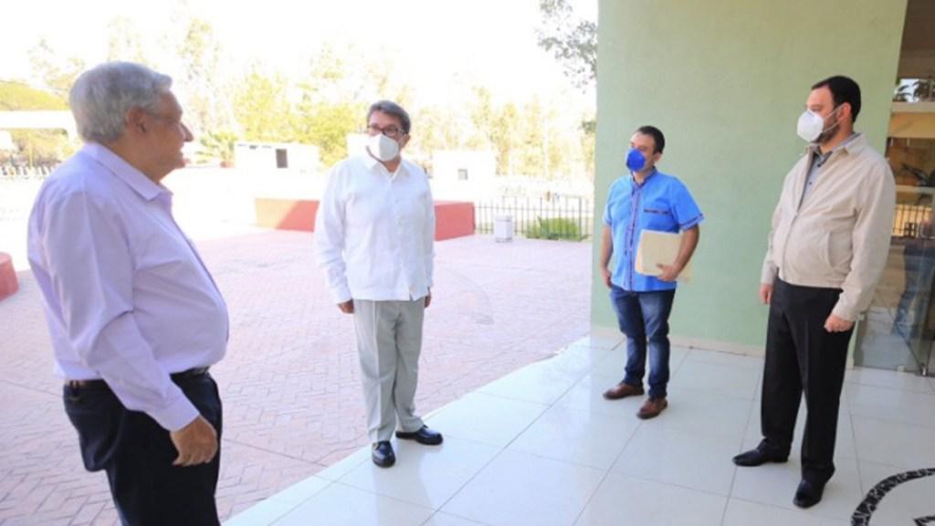 López Obrador asegura que el Senado aprobará la reforma eléctrica - Andrés Manuel López Obrador, Ricardo Monreal y Alejandro Tello durante una gira de trabajo en Zacatecas. Foto de Facebook.