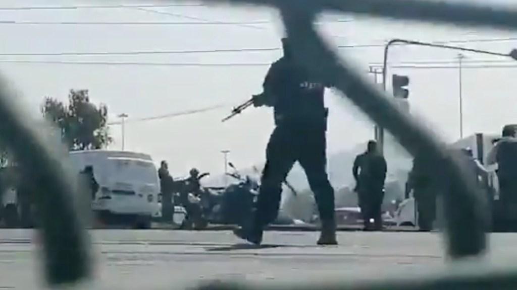 Manifestación en Tecámac termina en balacera; hay varios detenidos - Captura de pantalla