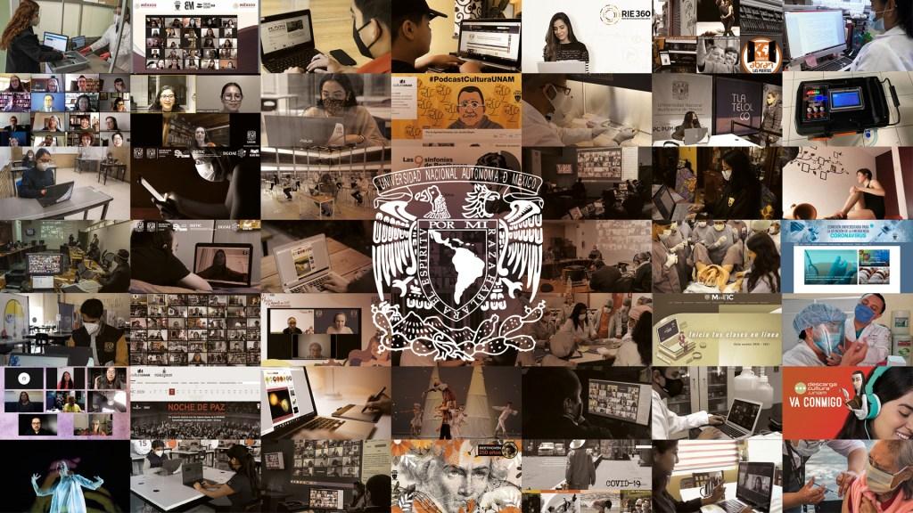 UNAM cumple un año de actividades desde casa por pandemia de COVID-19 - Actividades de la Universidad Nacional a distancia por pandemia de COVID-19. Foto de UNAM