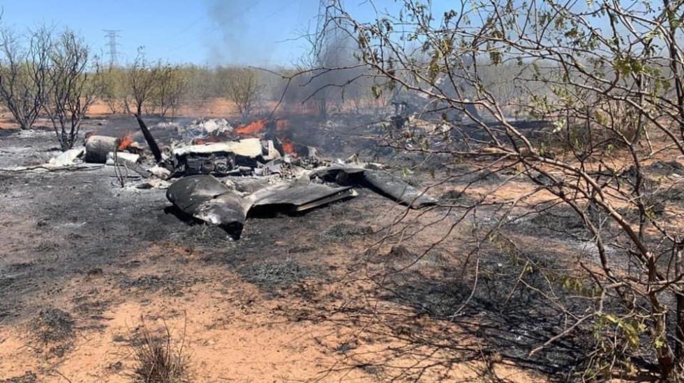 Desplome de avioneta deja al menos cuatro personas muertas en Sonora; entre los heridos, un funcionario estatal - Foto de @michelleriveraa
