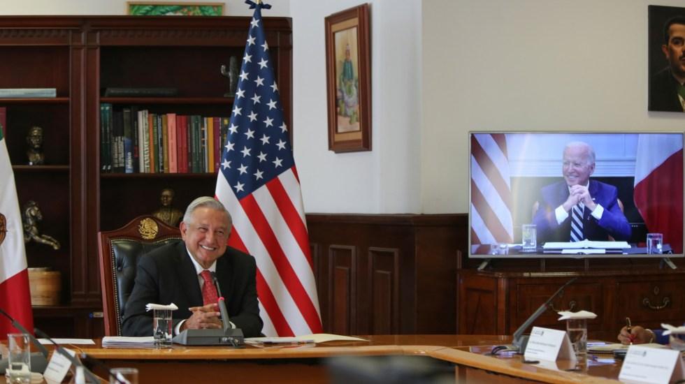 Biden ofrece cooperación y 'trato de iguales'; AMLO pide respeto a la soberanía - AMLO Andrés Manuel López Obrador reunión bilateral Joe Biden