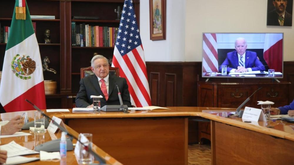 """En primera reunión con Biden """"no hubo ni una sola discrepancia"""": AMLO - Foto de SRE"""