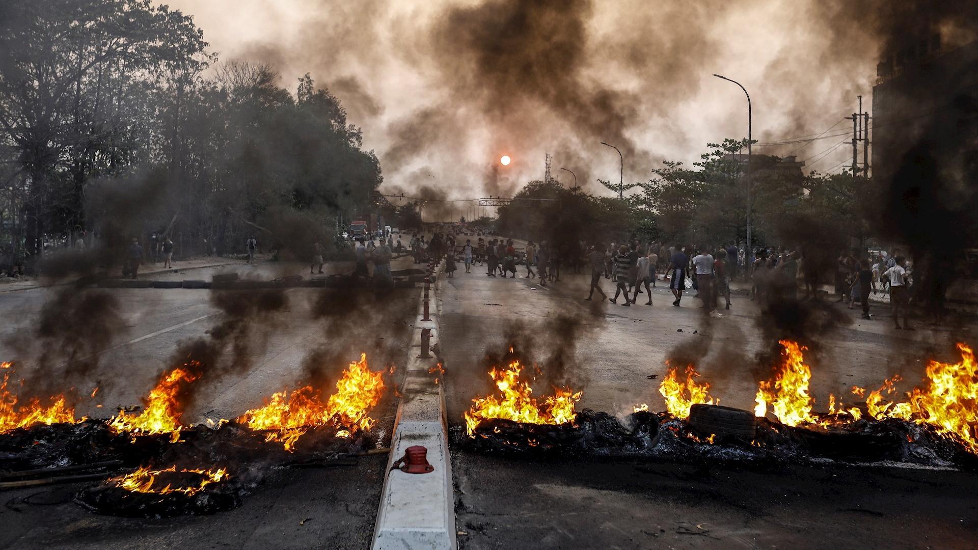 Birmania protestas violencia