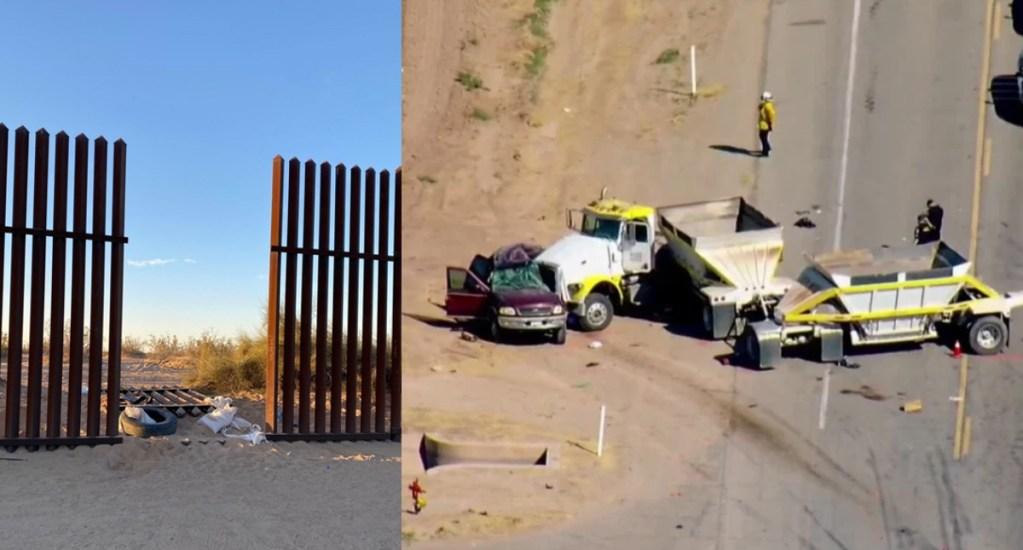 Camioneta que se accidentó en California habría ingresado a EE.UU. por agujero en muro fronterizo - California El Centro Accidente