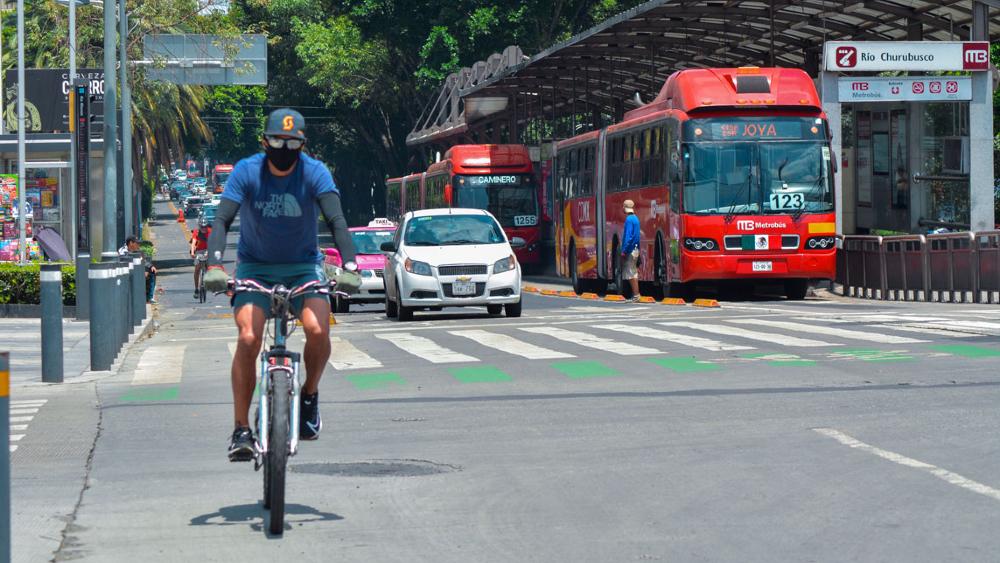 Ciclovía de Avenida Insurgentes será permanente; rediseñarán para conectarla con el Metrobús - Foto de cicloviaspermanentes.org