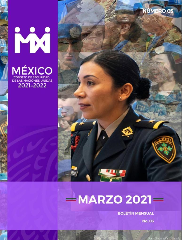 Boletín mensual sobre la participación de México en el Consejo de la ONU - Consejo de Seguridad de las Naciones Unidas. Foto de ONU
