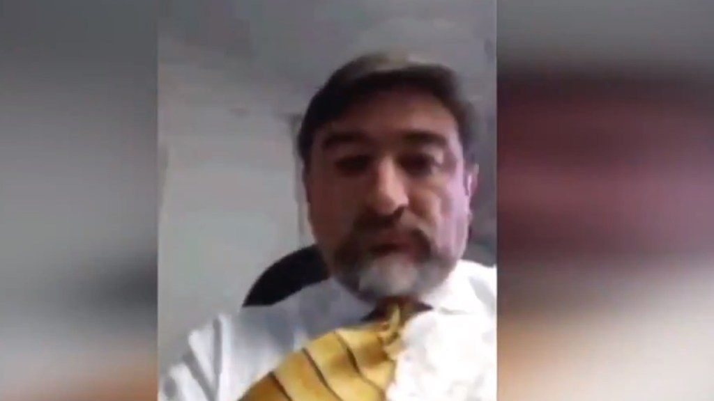 Cancillería separa del cargo a cónsul en Canadá por video sexual - Darío Alberto Bernal Acero. Captura de pantalla