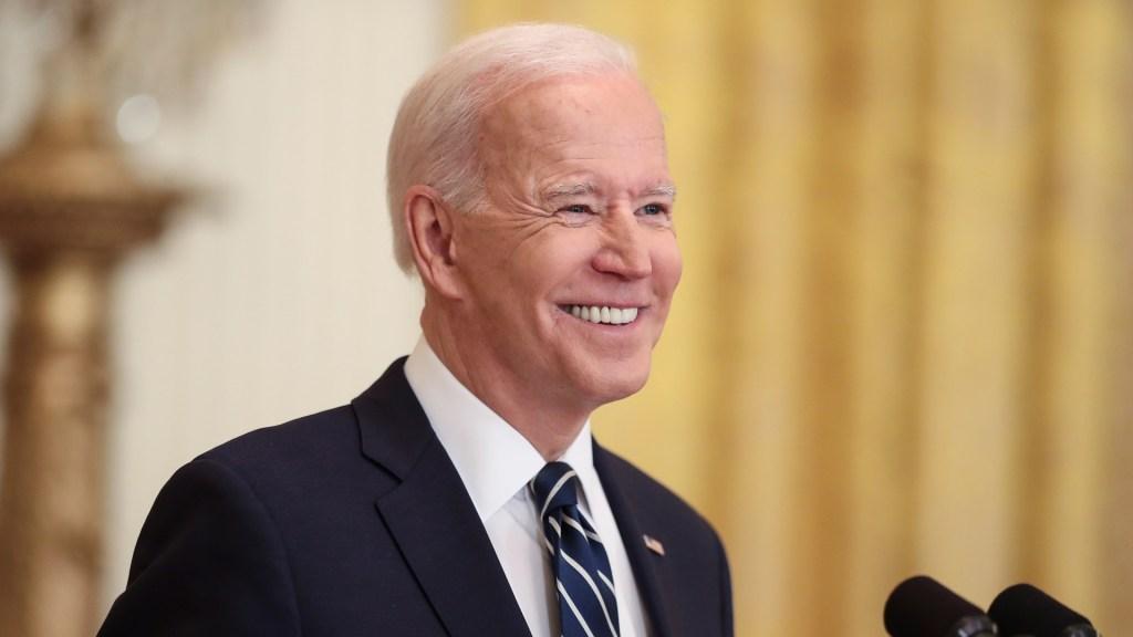 Biden anuncia su intención de reelegirse como presidente de EE.UU. - Joe Biden en su primera conferencia de prensa desde que llegó a la Casa Blanca. Foto de EFE