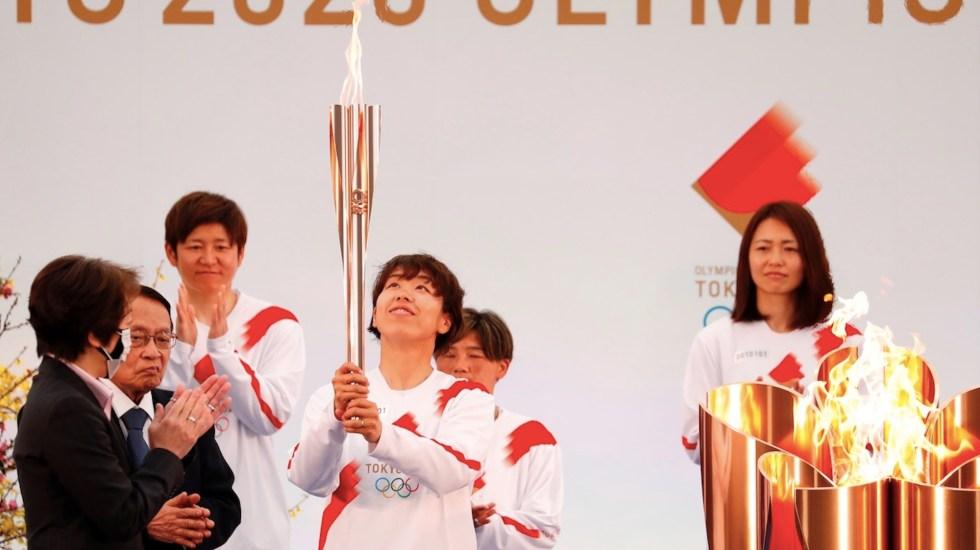 Inicia en Fukushima el relevo de la antorcha para los Juegos Olímpicos de Tokio - Arranca el recorrido de la llama olímpica. Foto de EFE