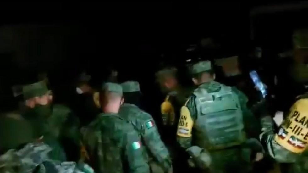 Guatemala condena muerte de migrante en Chiapas por disparos de militar - Militares señalados como presuntos responsables del asesinato de un migrante guatemalteco en Chiapas. Captura de pantalla