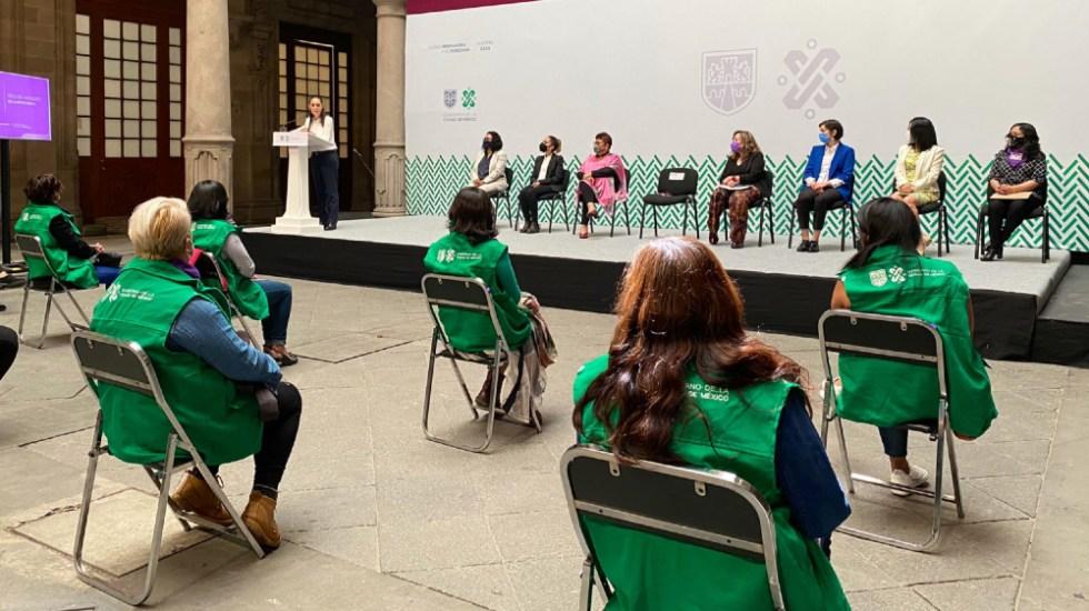 Presenta Gobierno de la CDMX plan 'Mujeres SOS: Red de Mujeres en Alerta por ti' - Foto de @esthela_damian