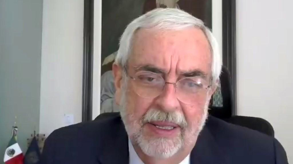 Es un privilegio para la UNAM colaborar en la recuperación económica y sanitaria de México: Graue - Rector Enrique Graue durante inauguración de cátedra Presupuesto 2021. Foto de UNAM