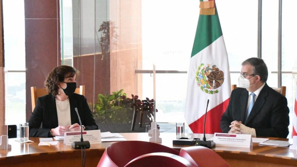México y Estados Unidos coinciden en impulsar desarrollo del norte de Centroamérica - Reunión Ebrard Roberta Jacobson México Estados Unidos