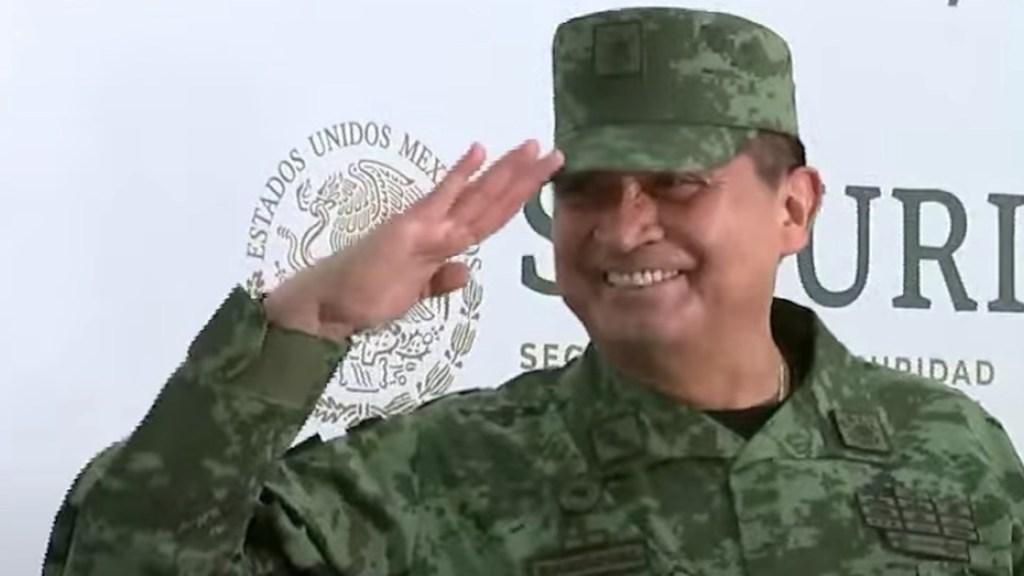 General Luis Cresencio Sandoval reaparece en acto con López Obrador tras curarse de COVID-19 - Captura de pantalla